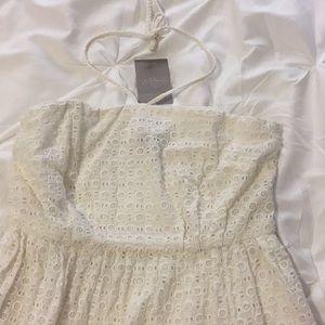 Ivory Eyelet Lace dress
